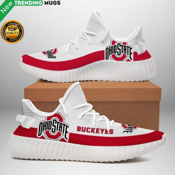 Ohio State Buckeyes Sneakers White Shoes & Sneaker
