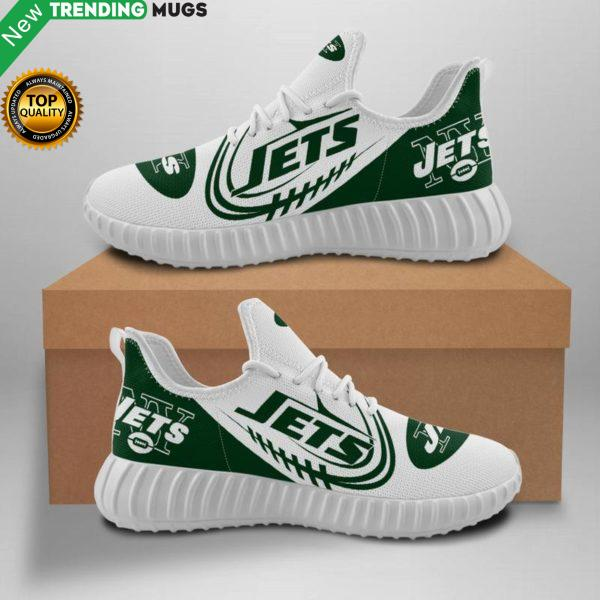 New York Jets Unisex Sneakers New Sneakers Football Custom Shoes New York Jets Yeezy Boost Shoes & Sneaker