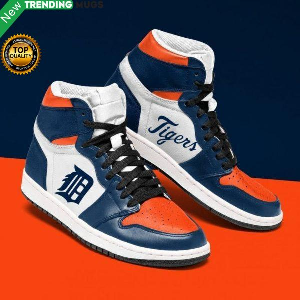 Detroit Tigers Mlb Men Jordan Shoes Unique Detroit Tigers Custom Sneakers Shoes & Sneaker
