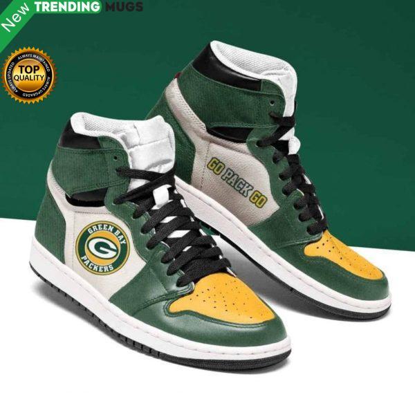 Green Bay Packers Nfl Men Jordan Shoes Unique Green Bay Packers Custom Sneakers Shoes & Sneaker