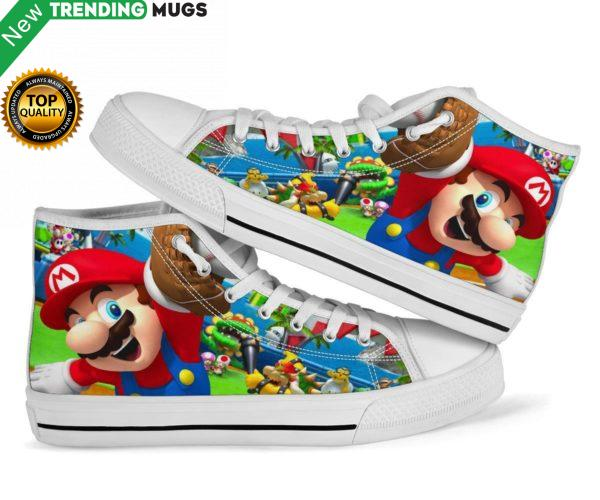 Mario Super Sluggers Sneakers High Top Shoes Shoes & Sneaker