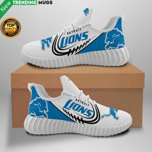 Detroit Lions Unisex Sneakers New Sneakers Custom Shoes Football Detroit Lions Yeezy Boost Shoes & Sneaker