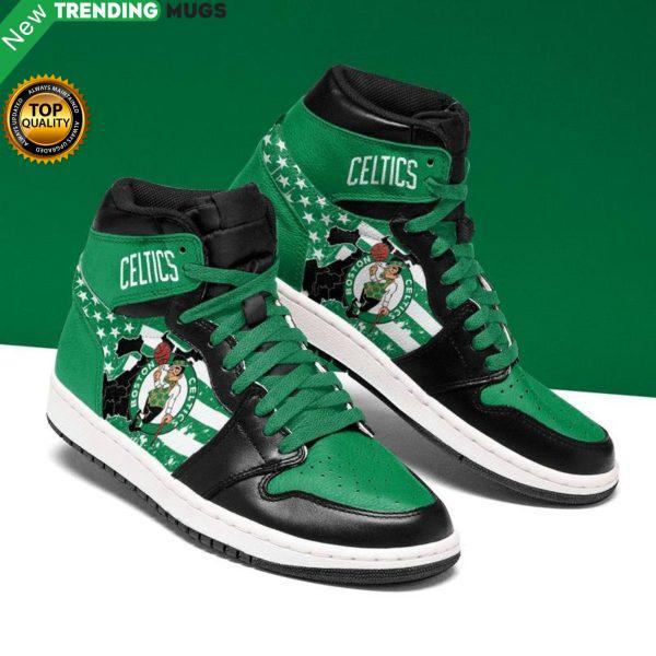 Boston Celtics Men Jordan Shoes Unique Basketball Custom Sneakers Shoes & Sneaker