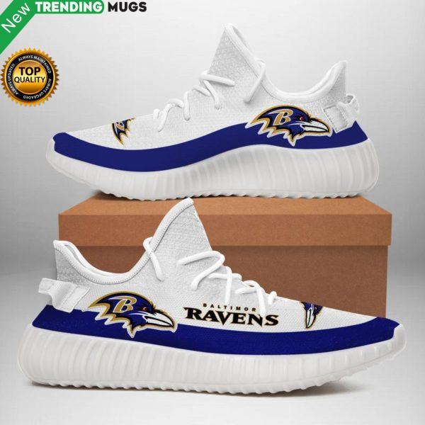 Baltimore Ravens Nfl Unisex Sneaker Football Custom Shoes Baltimore Ravens Yeezy Boost Shoes & Sneaker