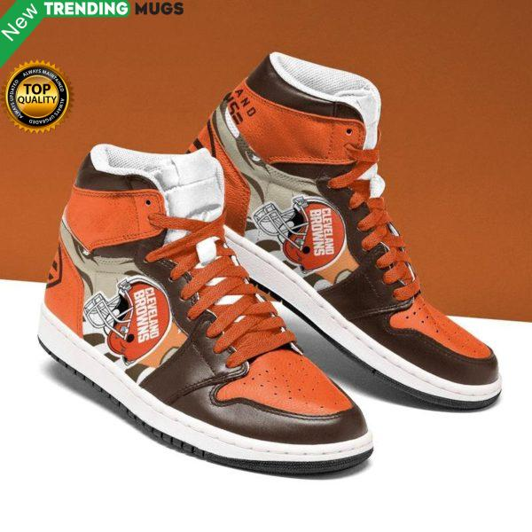 Cleveland Browns Men Jordan Shoes Unique Football Custom Sneakers Shoes & Sneaker