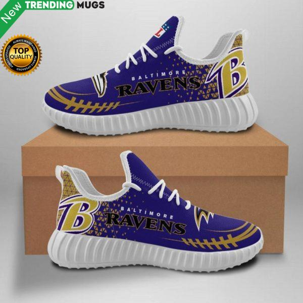 Baltimore Ravens Unisex Sneakers New Sneakers Football Custom Shoes Baltimore Ravens Yeezy Boost Shoes & Sneaker