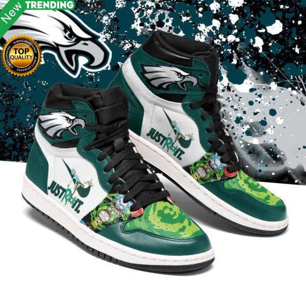 Rick And Morty Philadelphia Eagles Jordan Sneakers Custom Jordan Shoe Sneaker Shoes & Sneaker