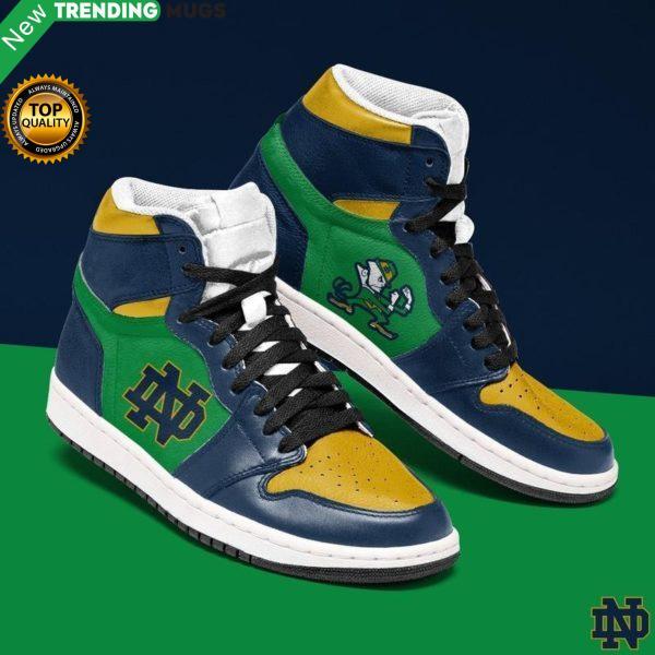 Notre Dame Fighting Irish Ncaa Men Jordan Shoes Unique Notre Dame Fighting Irish Football Custom Sneakers Shoes & Sneaker