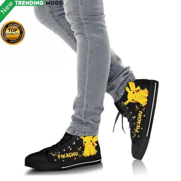 Pikachu Sneakers Pokemon High Top Shoes Fan Gift Pt20 Shoes & Sneaker