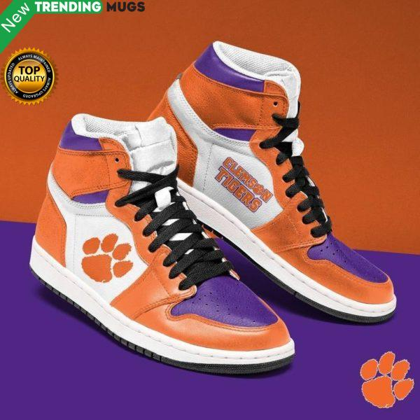 Clemson Tigers Ncaa Men Jordan Shoes Unique Clemson Tigers Football Custom Sneakers Shoes & Sneaker