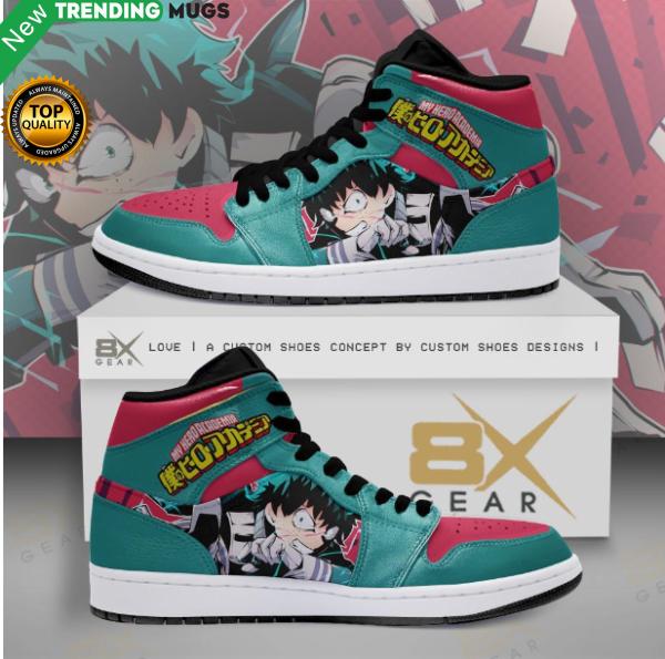 My Hero Academia Jordan Sneakers Izuku Midoriya Attack Shoes & Sneaker