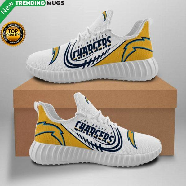 Los Angeles Chargers Unisex Sneakers New Sneakers Football Custom Shoes Los Angeles Chargers Yeezy Boost Shoes & Sneaker
