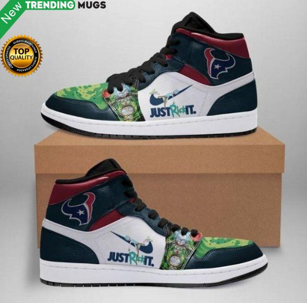 Rick And Morty Houston Texans Jordan Sneakers Shoes Shoes & Sneaker