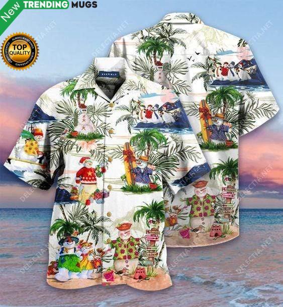 Amazing Snowman Hawaiian Shirt Jisubin Apparel