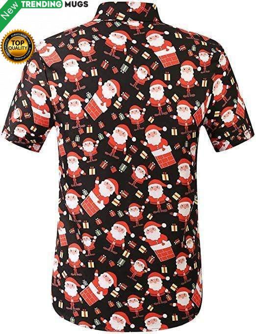 Santa Claus Holiday Party Christmas Hawaiian Shirt Jisubin Apparel