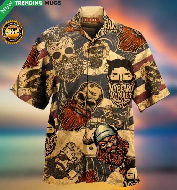 My Beard My Rules Hawaiian Shirt Jisubin Apparel