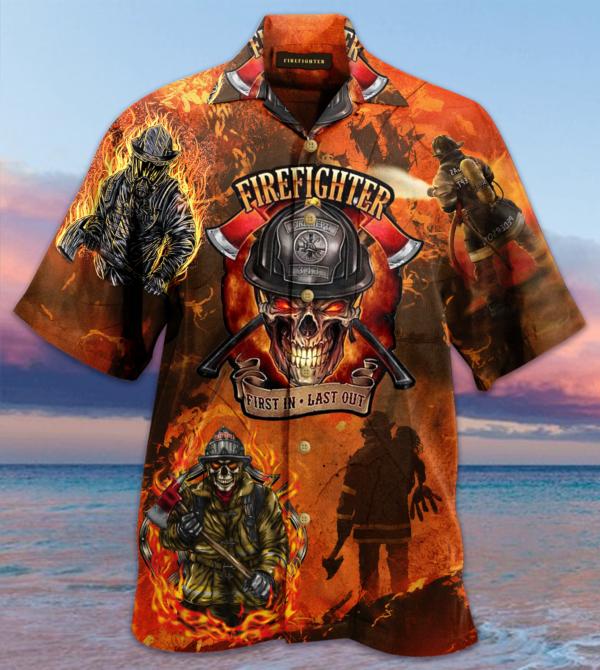 Amazing Courageous Firefighter Hawaiian Shirt Jisubin Apparel