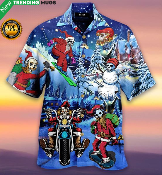 Merry Christmas With Skull Hawaiian Shirt Jisubin Apparel