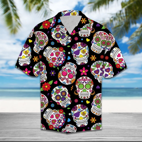 Skull Flower Hawaiian Shirt Jisubin Apparel