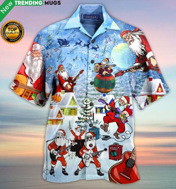 I Rock Jingle Bells Hawaiian Shirt Jisubin Apparel