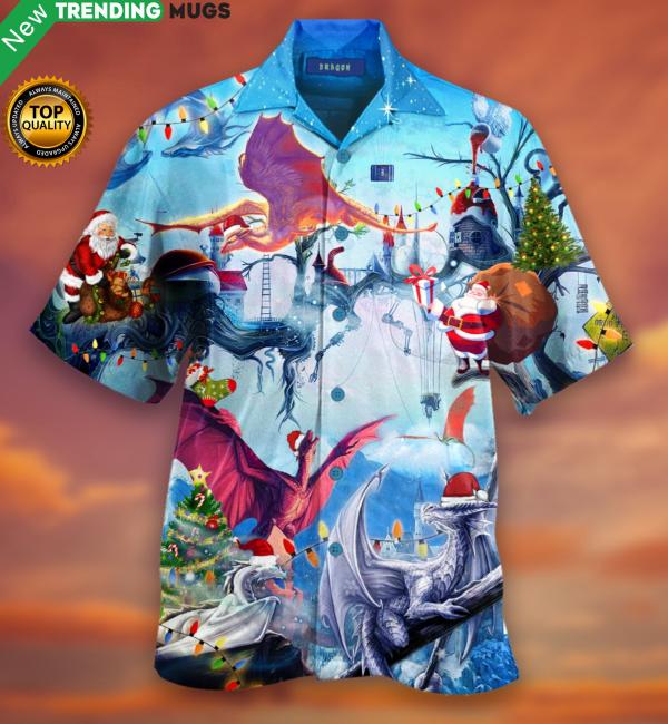 Happy Dragons On Christmas Hawaiian Shirt Jisubin Apparel