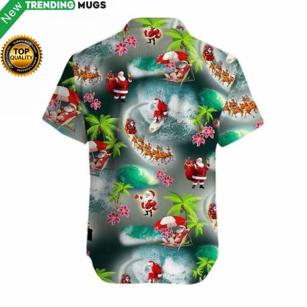 Santa Beach Christmas Hawaiian Shirt Jisubin Apparel