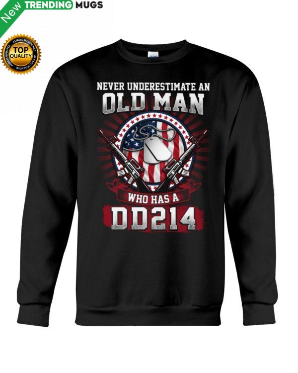 Old Man With DD 214 Shirt, Hoodie Apparel