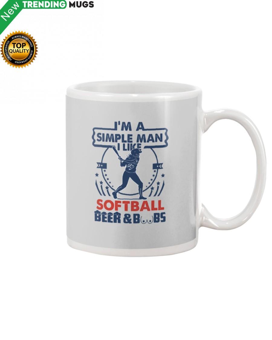 I'm A Simple Man Softball Mug Apparel