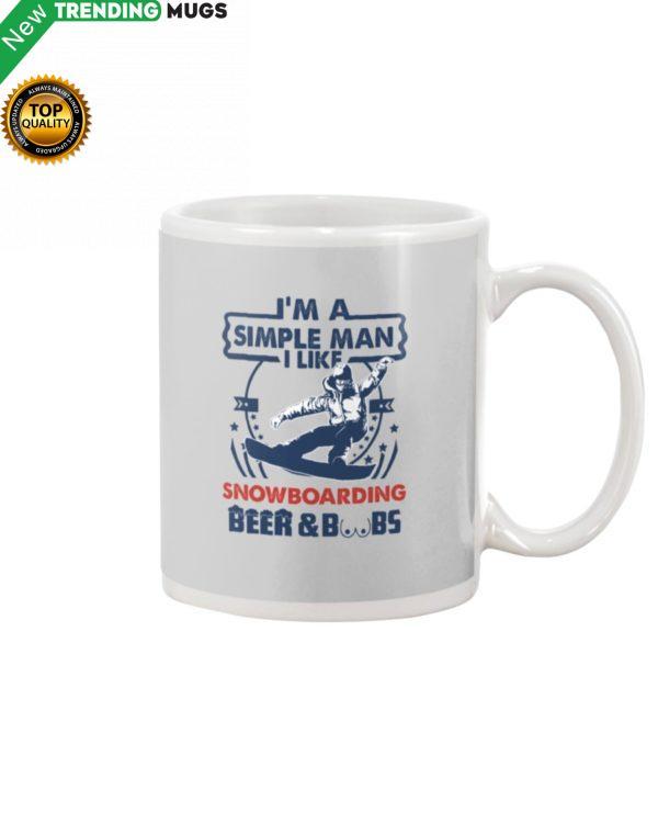 I'm A Simple Man Snowboarding Mug Apparel