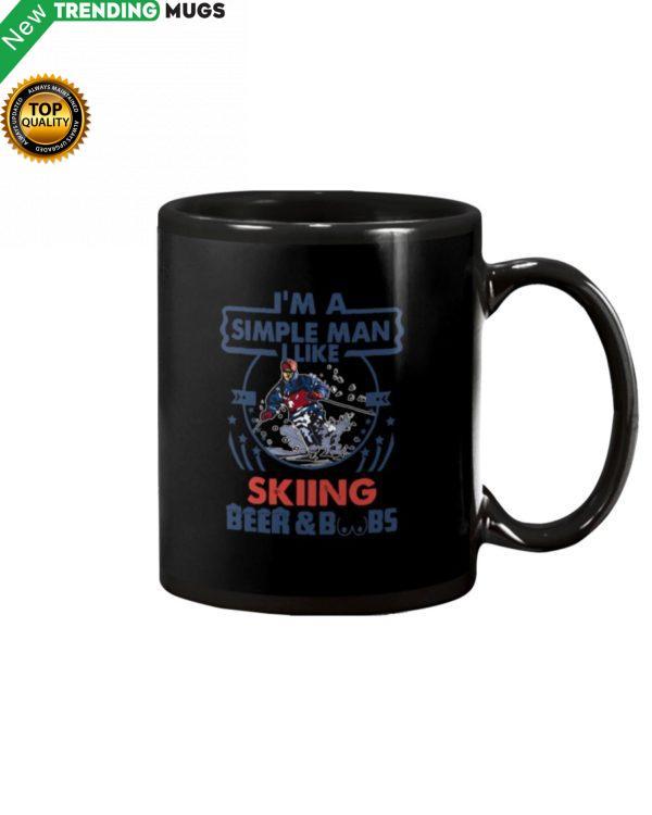 I'm A Simple Man Skiing Mug Apparel