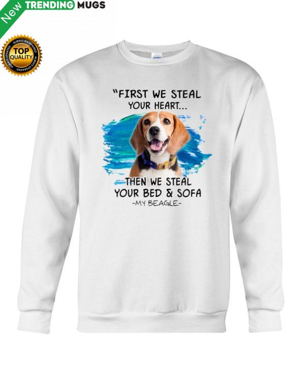 Beagle First steal your hear Classic T Shirt, Hooded Sweatshirt Apparel