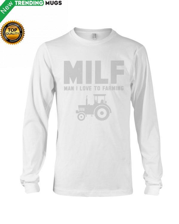 MILF MAN I LOVE FARMING Hooded Sweatshirt Apparel