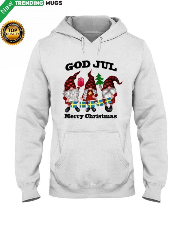 GOD JUL MERRY CHRISTMAS FLAGS SWEDEN TOMTAR Shirt, Hoodie Apparel