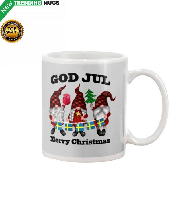 GOD JUL MERRY CHRISTMAS FLAGS SWEDEN TOMTAR Mug Apparel
