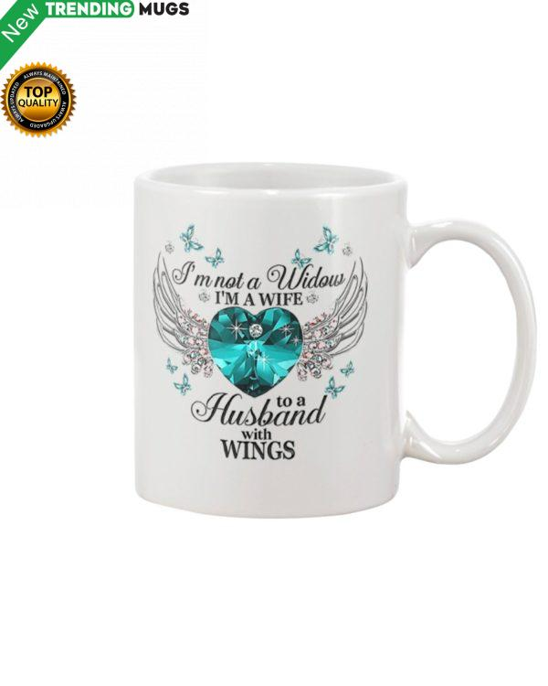 I'm Not A Widow I'm A Wife To A Husband With Wings Mug Jisubin Apparel