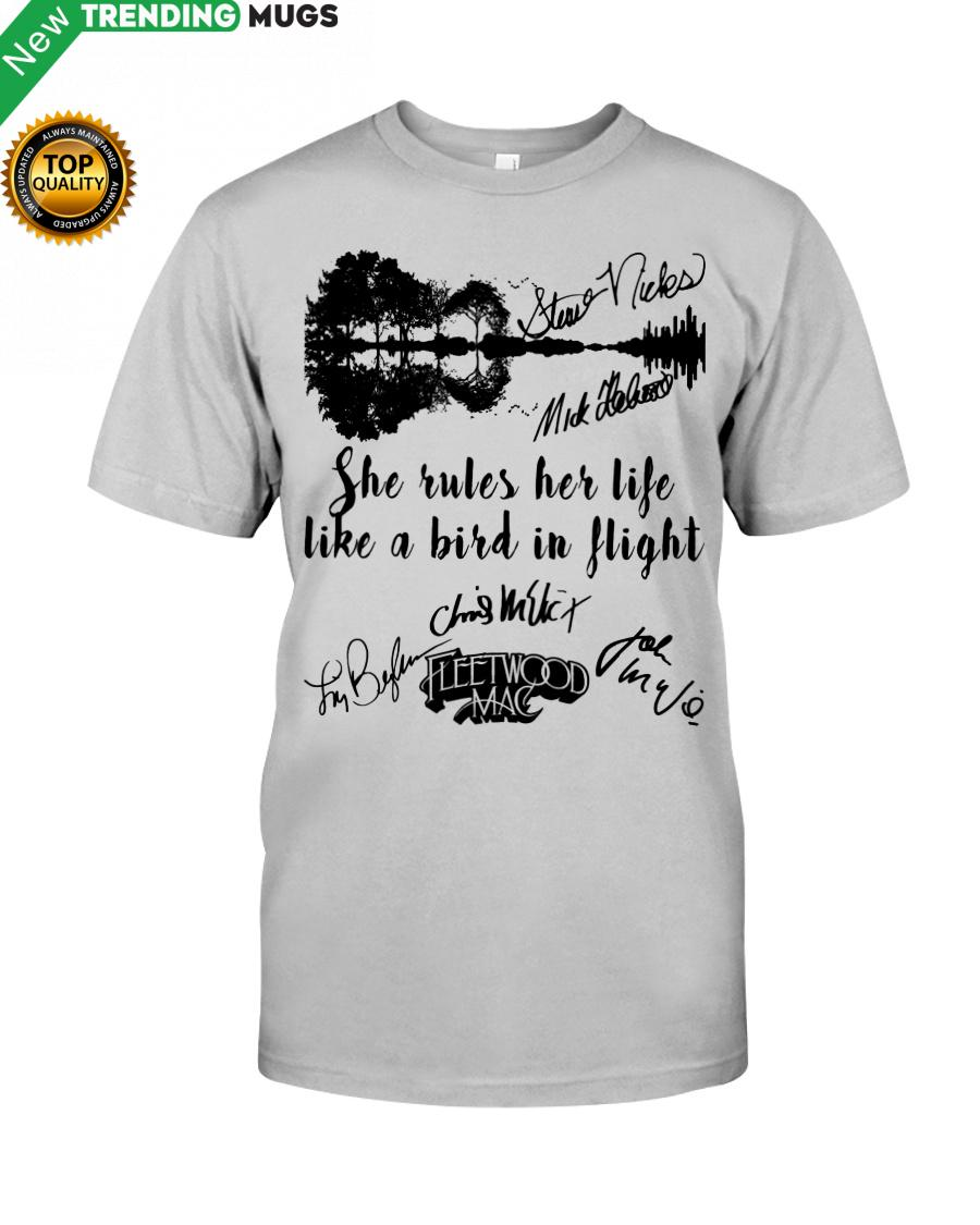 She Rules Her Life Like A Bird In Flight Shirt, Hoodie Apparel