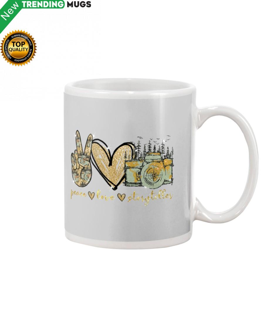 Peace love storyteller Mug Apparel
