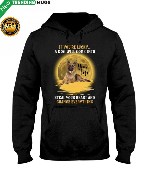 German Shepherd Lucky Shirt, Hoodie Apparel