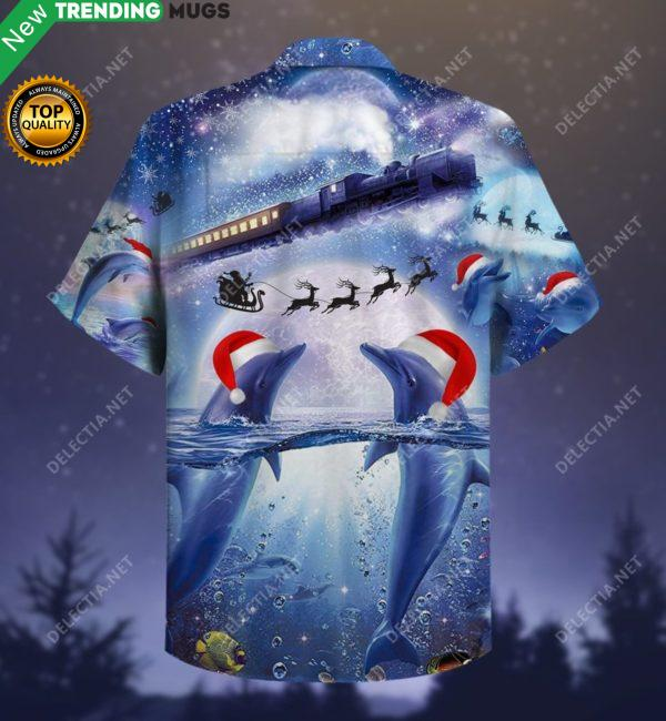 All I Want For Christmas Is A Dolphin Hawaiian Shirt Jisubin Apparel