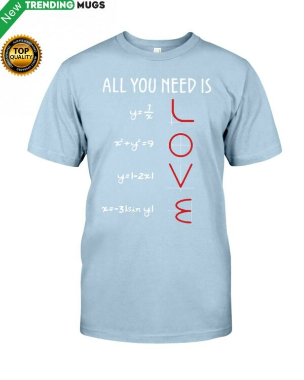 Love Math Classic T Shirt Apparel