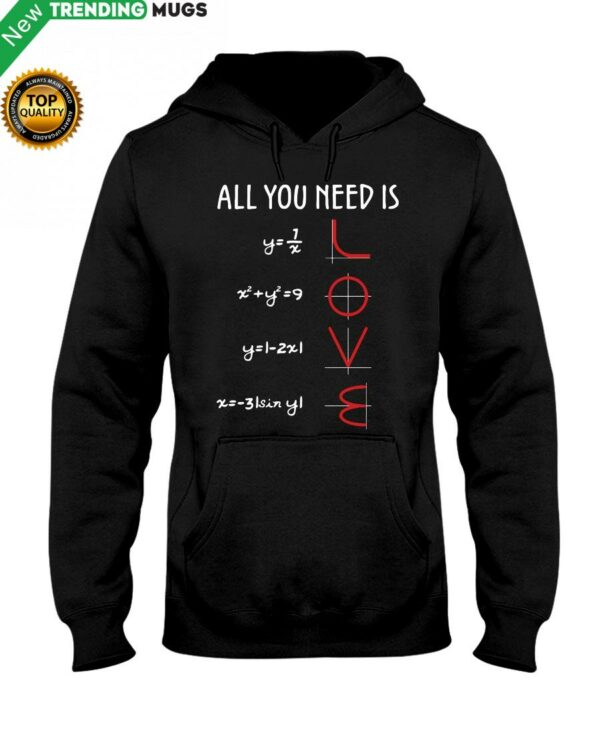 Love Math Hooded Sweatshirt Apparel