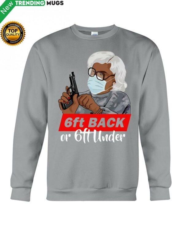 6Ft Back Hooded Sweatshirt Apparel