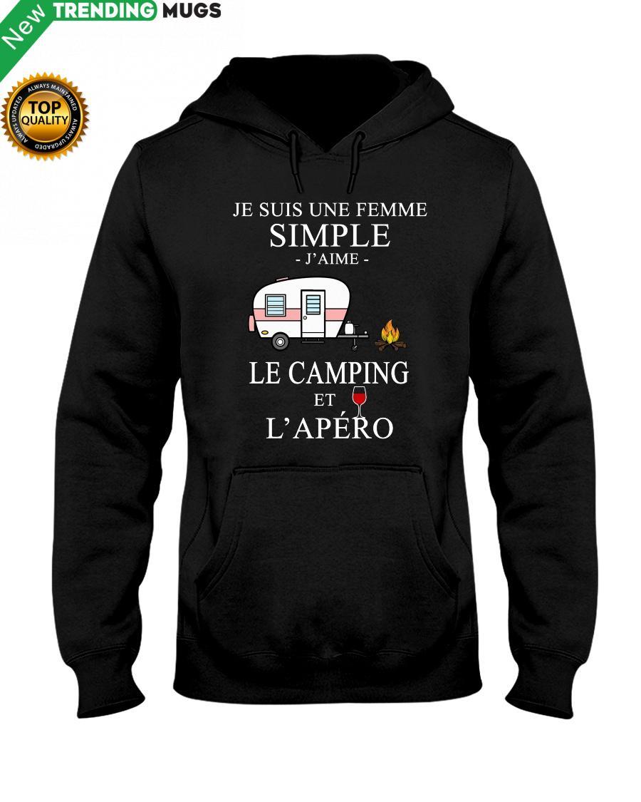 regular 204 Camping Femme Simple Apero purple Hooded Sweatshirt
