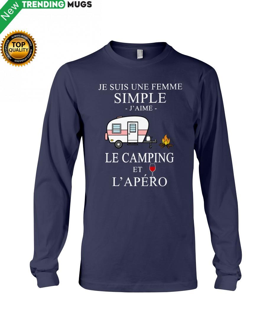 regular 209 Camping Femme Simple Apero purple Hooded Sweatshirt