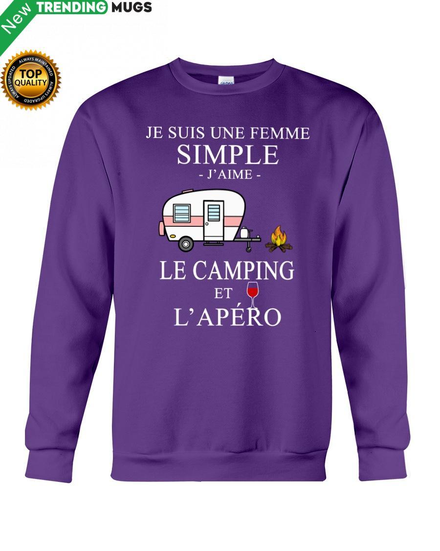 regular 212 Camping Femme Simple Apero purple Hooded Sweatshirt