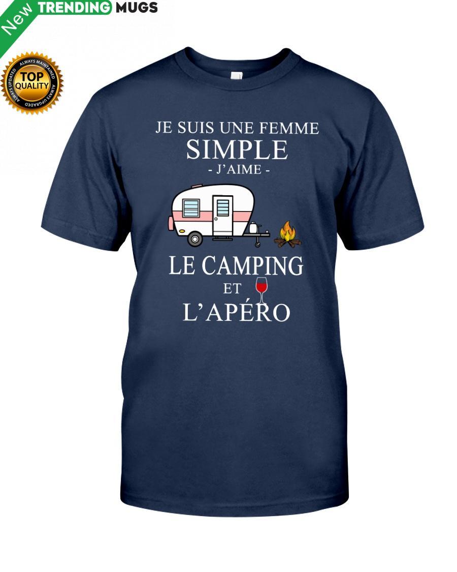 regular 215 Camping Femme Simple Apero purple Shirt