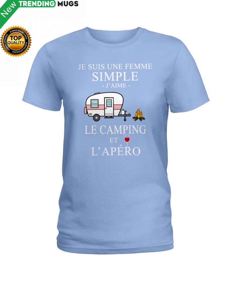 regular 217 Camping Femme Simple Apero purple Shirt