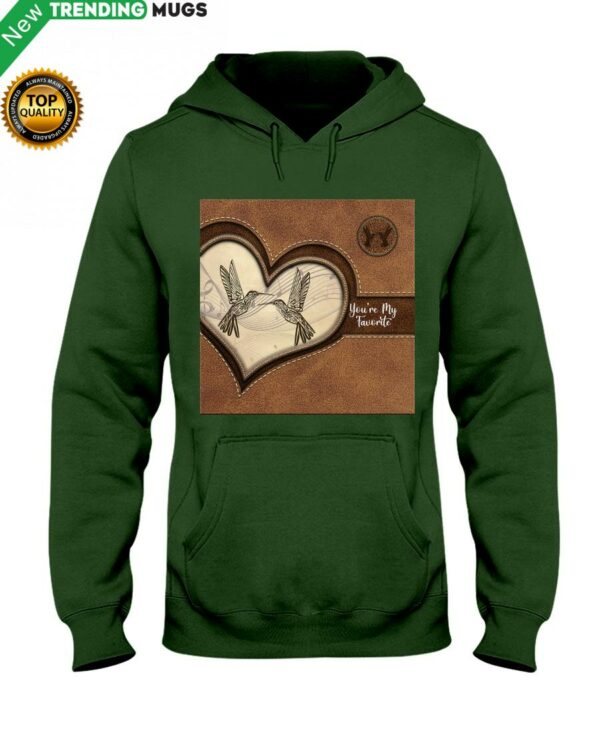 Hummingbird You're My Favorite Hummingbird Lover Hooded Sweatshirt Apparel