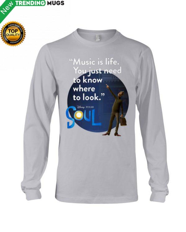 Music Is Life You Just Need To Know Where To Look Hooded Sweatshirt Apparel