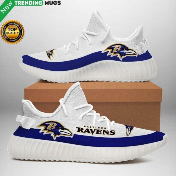 Baltimore Ravens Nfl Unisex Sneaker Football Custom Shoes Baltimore Ravens Yeezy Boost Apparel